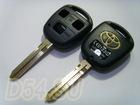 Заготовка ключа, Toyota, 3х кнопочный