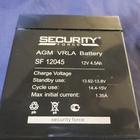 Аккумуляторы AGM 12V Security SF 12045